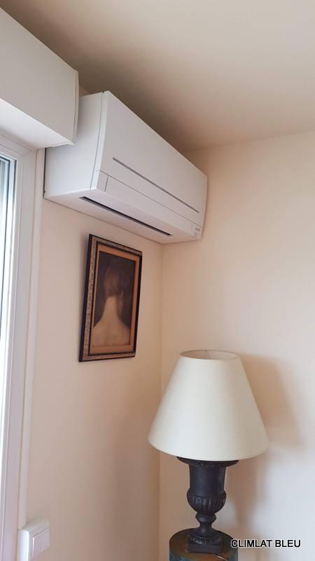 Chauffage d'une pièce par climatisation RÉVERSIBLE, unité mural